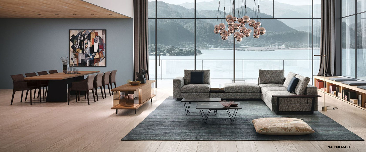 WalterKnoll living room - couch - dining table - coffee table - dining chairs - Espace et Vie | Sièges et Bureaux